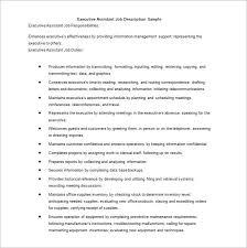 Job Description Template – 47+ Free Word, Excel, PDF Format ... Executive Administrative Assistant Job Description Template