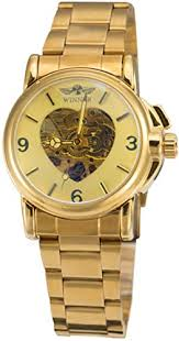 Winner Luxury Women Automatic Mechanical Gold ... - Amazon.com