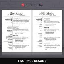 resume template for word theme kate elegant look in white resume template for word theme kate elegant look in white