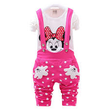 <b>2017</b> New Spring <b>Baby Girls Clothes</b> Set Minnie Toddler Girl ...
