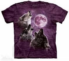 <b>Футболка</b> Mountain Three Wolf <b>Moon</b> In Purple