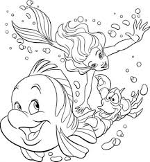 Small Picture Excellent The Little Mermaid Coloring Pages 2 70