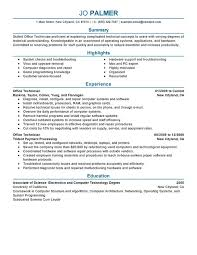 unforgettable office technician resume examples to stand out    office technician resume sample
