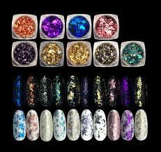 1 Box <b>Nail</b> Art <b>Glitter Aluminum</b> Flakes Mirror Effect <b>Nail</b> Powders ...