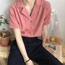 2019 Women Floral <b>Shirt</b> Small V neck Female <b>Blouses</b> Korean ...