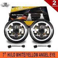 <b>CO LIGHT</b> 50W 30W <b>7 Inch</b> Round Led Headlight Angel Eye High ...