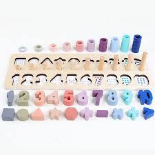 Super Deal #1b89 - Preschool <b>Wooden Montessori Toys</b> Count ...