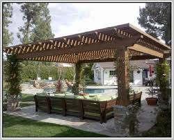 White Pergola Attached to House  Attached Pergola Plans   End MassHouse Attached Pergola Designs