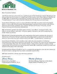 empire board of realtists sponsorship opportunities dear prospective partners the empire board