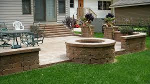 steps patio brick flagstone wall  fiegelpatio