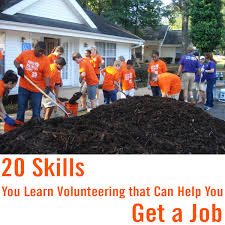 youth volunteer corps skills you learn volunteering to help you 20 skills you learn volunteering to help you get a job