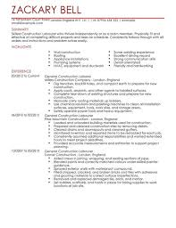 construction labourer cv example for construction   livecareer