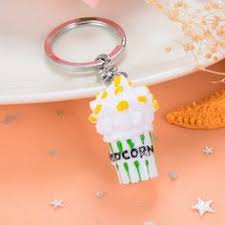 Paragraph 5 <b>Simulation Food Hamburger Popcorn</b> Fries Key Chain ...