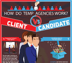 how does a temp agency work for clients and candidates infographic how does a temp agency work