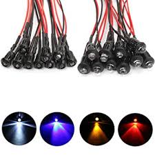 Seasiant India <b>10Pcs 12V Flashing</b> Pre-Wired LED Ultra: Amazon.in ...