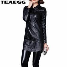 <b>TEAEGG</b> Robes Femme Ete <b>Plus Size</b> 4XL 5XL Pu Leather Back ...