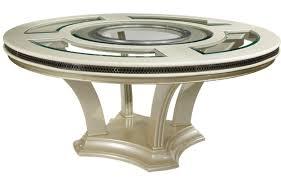 Glass Top Pedestal Dining Room Tables Circular Full View1 Exp Circular Tables Sets Small Drop Leaf