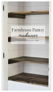 super cute diy farmhouse pantry makeover via littleglassjarcom shiplap organization pantry building office pantry