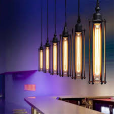 <b>American</b> Country Style Pendant Lights <b>Retro Loft Iron</b> Cages ...