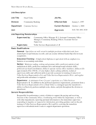 samplebusinessresume com page 24 of 37 business resume duties resume examples for a bank teller position sample resume for bank teller position no experience sample