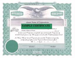 corporate stock certificate template word certificate corporate stock certificate template word
