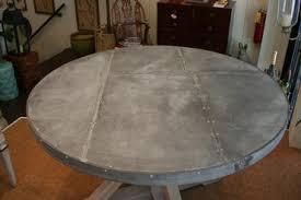 images zinc table top: round zinc top dining table  round zinc top dining table