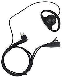 Buwico® <b>D Shape</b> Earpiece Headset PTT for <b>2</b>-<b>pin</b> Motorola ...