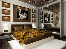 bedroombedroom furniture for men with profile bed with golden motif bedding combine with soft bedroom furniture for men