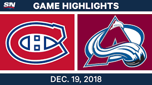 NHL Highlights   Canadiens vs. Avalanche - Dec 19, 2018 - YouTube