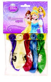 <b>Веселая</b> затея <b>Набор воздушных шаров</b> Принцессы 5 шт