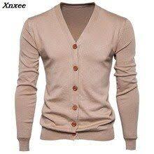 <b>Xnxee</b> Autumn Males <b>Sweater</b> Informal Button V-neck <b>Sweaters</b> ...