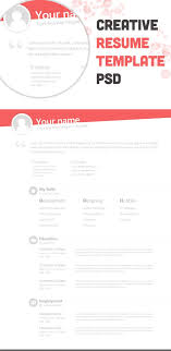 17 best ideas about creative resume templates creative resume template psd resource resume template templates