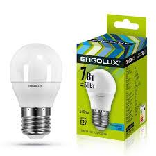 Купить <b>Лампа</b> LED <b>Ergolux LED</b>-<b>G45</b>-<b>7W</b>-<b>E27</b>-<b>4K</b> в каталоге ...