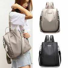 Women <b>Waterproof Oxford Cloth</b> Travel <b>Backpack</b> Nylon Anti-theft ...