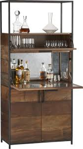 wood cabinets bar wall units handsome hideaway for the well stocked bar frames wide horizontals of
