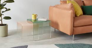 Hesta <b>Nesting Side Table</b>, Green and Pink | MADE.com