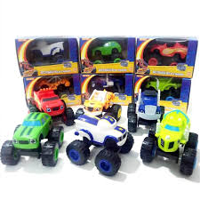 <b>6pcs</b>/<b>Set Blaze</b> Monster Machines Palstic <b>Car Toys</b> for Children Kids ...