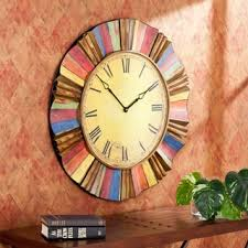 wood sign glass decor wooden kitchen wall: harper blvd salucci decorative wall clock