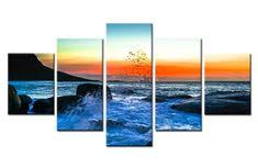 <b>5 Pieces HD Print</b> Painting Still Sunset Landscape Poster For ...
