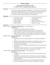 cnc machinist resumes resume templates resume examples for truck drivers