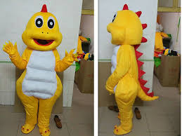 <b>2019 Hot selling</b> yellow Dinosaur Dino Adult Mascot Costume <b>fancy</b> ...