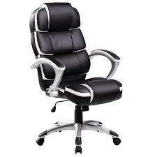 <b>Luxury</b> Designer Computer <b>Office Chair</b> - <b>Black</b> with White Accents ...