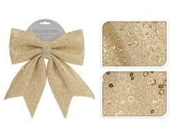 <b>Бант</b> золотой <b>20х24</b> см купить по цене 189.0 руб. в ОБИ