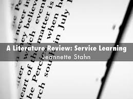 A Literature Review  Service Learning