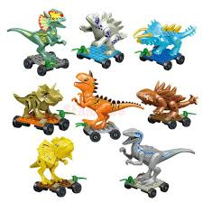 8PCS/LOT Dinosaur DIY <b>Assembly Building Blocks</b> Dino Toys ...