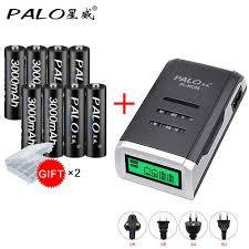 <b>PALO 8pcs AA</b> 3000mah NI MH 1.2V rechargeable batteries aa ...
