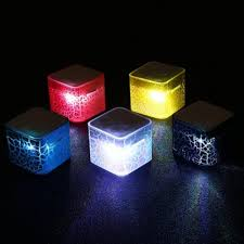 Smart LED Nightlight Colorful Light <b>Water Cube Bluetooth</b> Speaker ...