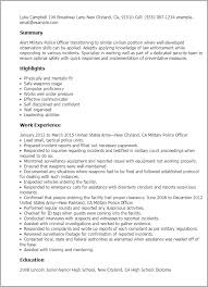 professional military police officer templates to showcase your    resume templates  military police officer