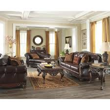 leather sofa set ashley living