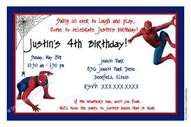 spiderman birthday party invitations templates spiderman birthday invitations templates